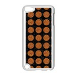CIRCLES1 BLACK MARBLE & RUSTED METAL (R) Apple iPod Touch 5 Case (White) Front