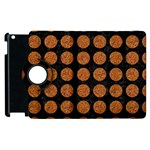 CIRCLES1 BLACK MARBLE & RUSTED METAL (R) Apple iPad 2 Flip 360 Case Front