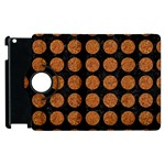 CIRCLES1 BLACK MARBLE & RUSTED METAL (R) Apple iPad 3/4 Flip 360 Case Front
