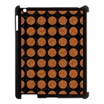 CIRCLES1 BLACK MARBLE & RUSTED METAL (R) Apple iPad 3/4 Case (Black) Front