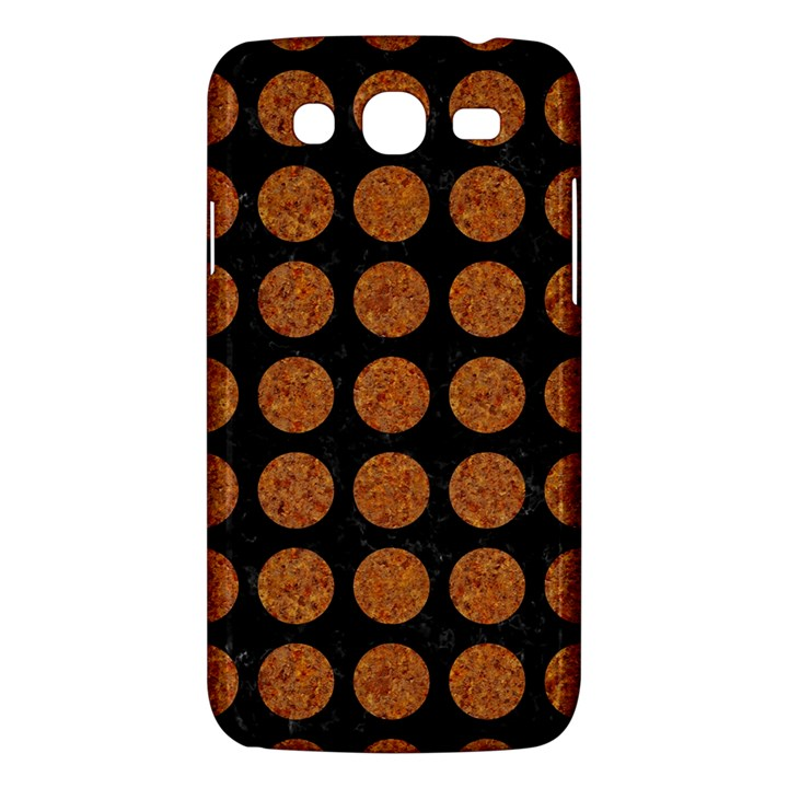 CIRCLES1 BLACK MARBLE & RUSTED METAL (R) Samsung Galaxy Mega 5.8 I9152 Hardshell Case
