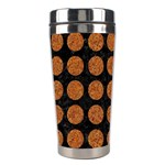 CIRCLES1 BLACK MARBLE & RUSTED METAL (R) Stainless Steel Travel Tumblers Left