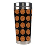 CIRCLES1 BLACK MARBLE & RUSTED METAL (R) Stainless Steel Travel Tumblers Center