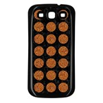 CIRCLES1 BLACK MARBLE & RUSTED METAL (R) Samsung Galaxy S3 Back Case (Black) Front
