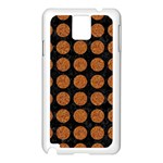 CIRCLES1 BLACK MARBLE & RUSTED METAL (R) Samsung Galaxy Note 3 N9005 Case (White) Front