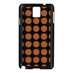 CIRCLES1 BLACK MARBLE & RUSTED METAL (R) Samsung Galaxy Note 3 N9005 Case (Black) Front