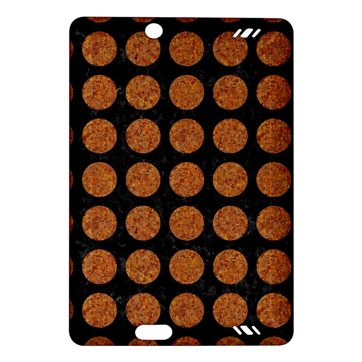 CIRCLES1 BLACK MARBLE & RUSTED METAL (R) Amazon Kindle Fire HD (2013) Hardshell Case
