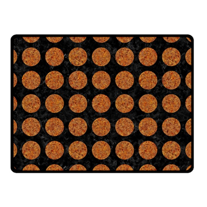 CIRCLES1 BLACK MARBLE & RUSTED METAL (R) Double Sided Fleece Blanket (Small)