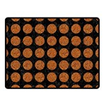 CIRCLES1 BLACK MARBLE & RUSTED METAL (R) Double Sided Fleece Blanket (Small)  45 x34 Blanket Back
