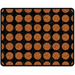 CIRCLES1 BLACK MARBLE & RUSTED METAL (R) Double Sided Fleece Blanket (Medium)  58.8 x47.4 Blanket Back