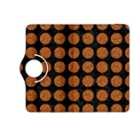 CIRCLES1 BLACK MARBLE & RUSTED METAL (R) Kindle Fire HDX 8.9  Flip 360 Case Front