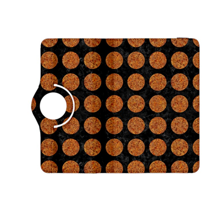 CIRCLES1 BLACK MARBLE & RUSTED METAL (R) Kindle Fire HDX 8.9  Flip 360 Case