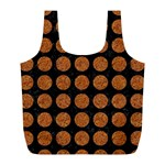 CIRCLES1 BLACK MARBLE & RUSTED METAL (R) Full Print Recycle Bags (L)  Back