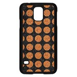 CIRCLES1 BLACK MARBLE & RUSTED METAL (R) Samsung Galaxy S5 Case (Black) Front