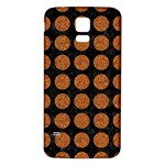 CIRCLES1 BLACK MARBLE & RUSTED METAL (R) Samsung Galaxy S5 Back Case (White) Front