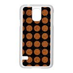 CIRCLES1 BLACK MARBLE & RUSTED METAL (R) Samsung Galaxy S5 Case (White) Front