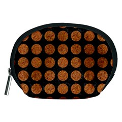Circles1 Black Marble & Rusted Metal (r) Accessory Pouches (medium)