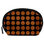 CIRCLES1 BLACK MARBLE & RUSTED METAL (R) Accessory Pouches (Large)  Front