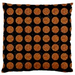 CIRCLES1 BLACK MARBLE & RUSTED METAL (R) Large Flano Cushion Case (One Side) Front