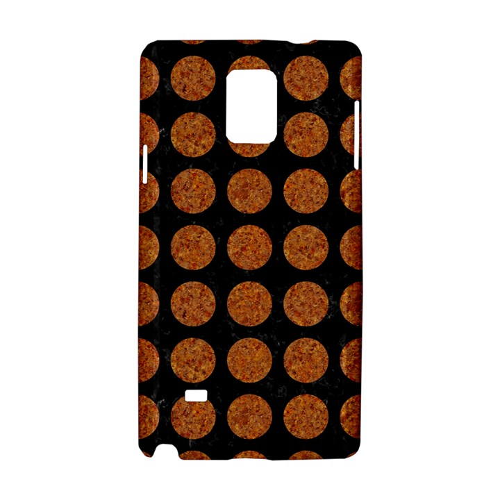 CIRCLES1 BLACK MARBLE & RUSTED METAL (R) Samsung Galaxy Note 4 Hardshell Case