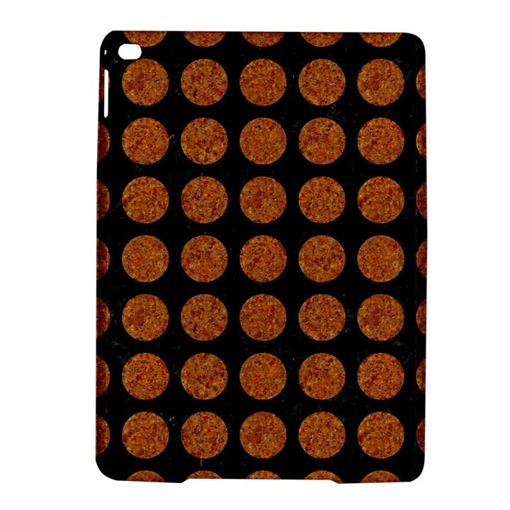 CIRCLES1 BLACK MARBLE & RUSTED METAL (R) iPad Air 2 Hardshell Cases