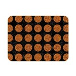CIRCLES1 BLACK MARBLE & RUSTED METAL (R) Double Sided Flano Blanket (Mini)  35 x27 Blanket Front