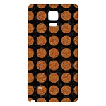 CIRCLES1 BLACK MARBLE & RUSTED METAL (R) Galaxy Note 4 Back Case Front
