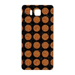 CIRCLES1 BLACK MARBLE & RUSTED METAL (R) Samsung Galaxy Alpha Hardshell Back Case Front