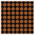 CIRCLES1 BLACK MARBLE & RUSTED METAL (R) Large Satin Scarf (Square) Front