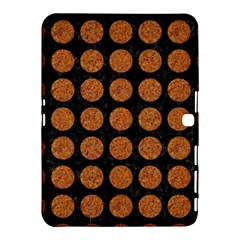 Circles1 Black Marble & Rusted Metal (r) Samsung Galaxy Tab 4 (10 1 ) Hardshell Case