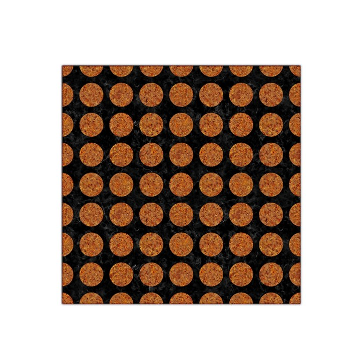 CIRCLES1 BLACK MARBLE & RUSTED METAL (R) Satin Bandana Scarf