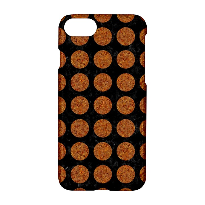 CIRCLES1 BLACK MARBLE & RUSTED METAL (R) Apple iPhone 7 Hardshell Case