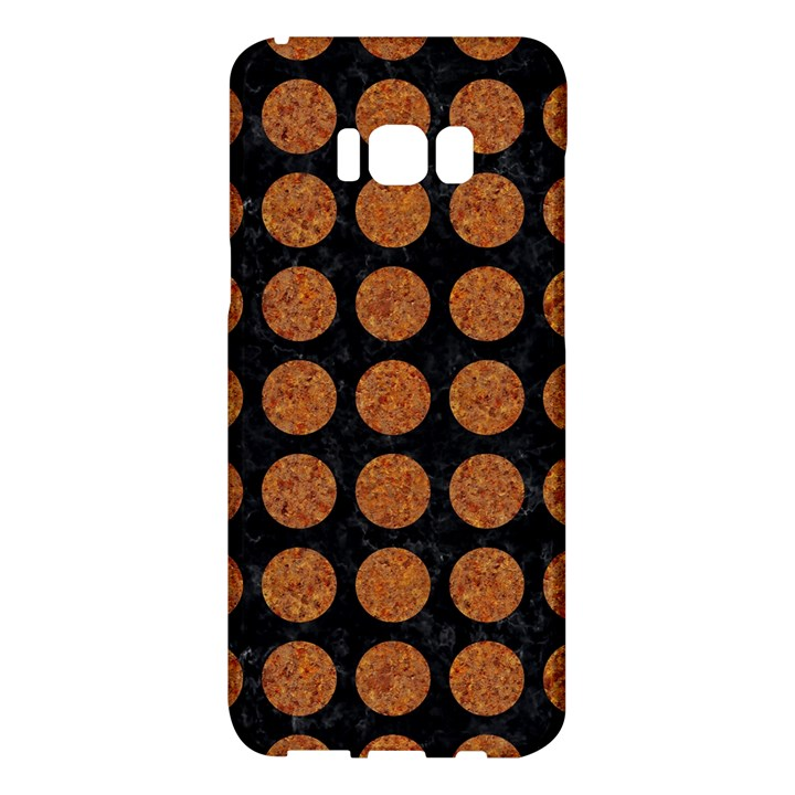 CIRCLES1 BLACK MARBLE & RUSTED METAL (R) Samsung Galaxy S8 Plus Hardshell Case