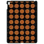 CIRCLES1 BLACK MARBLE & RUSTED METAL (R) Apple iPad Pro 9.7   Black Seamless Case Front
