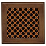 CIRCLES2 BLACK MARBLE & RUSTED METAL Framed Tiles Front