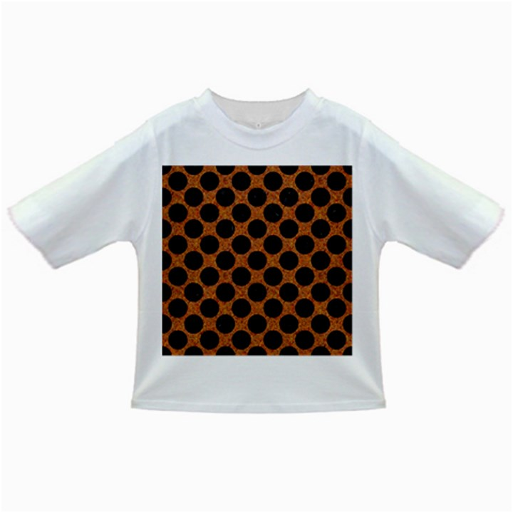 CIRCLES2 BLACK MARBLE & RUSTED METAL Infant/Toddler T-Shirts