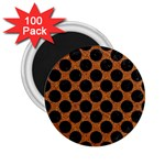 CIRCLES2 BLACK MARBLE & RUSTED METAL 2.25  Magnets (100 pack)  Front