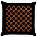CIRCLES2 BLACK MARBLE & RUSTED METAL Throw Pillow Case (Black) Front