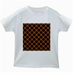 CIRCLES2 BLACK MARBLE & RUSTED METAL Kids White T-Shirts Front
