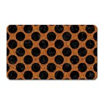 CIRCLES2 BLACK MARBLE & RUSTED METAL Magnet (Rectangular) Front