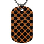 CIRCLES2 BLACK MARBLE & RUSTED METAL Dog Tag (Two Sides) Front