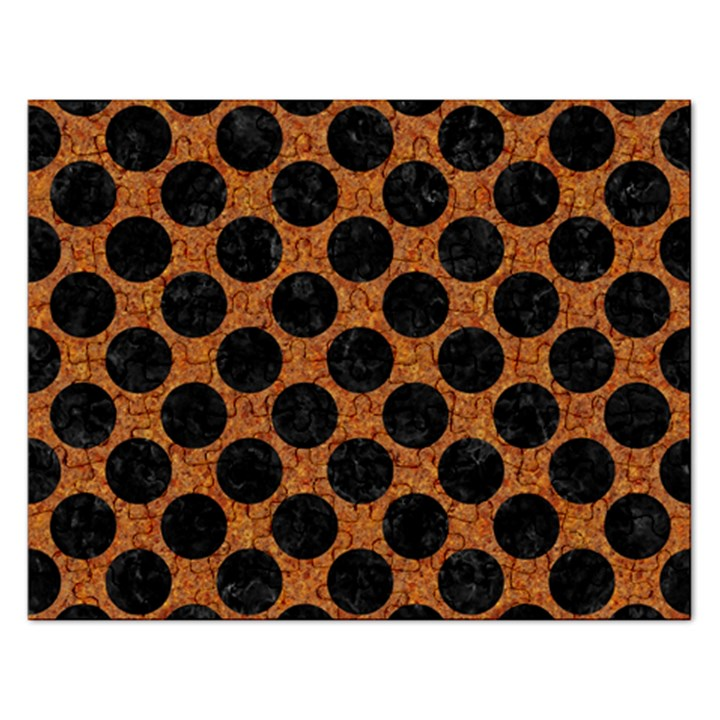CIRCLES2 BLACK MARBLE & RUSTED METAL Rectangular Jigsaw Puzzl