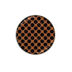 Circles2 Black Marble & Rusted Metal Hat Clip Ball Marker (4 Pack)