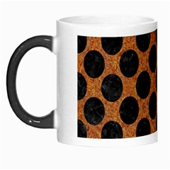 Circles2 Black Marble & Rusted Metal Morph Mugs