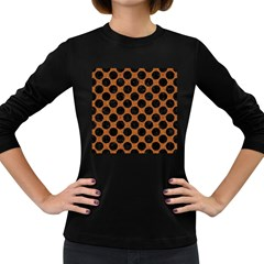 Circles2 Black Marble & Rusted Metal Women s Long Sleeve Dark T Shirts