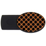 CIRCLES2 BLACK MARBLE & RUSTED METAL USB Flash Drive Oval (4 GB) Front