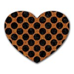CIRCLES2 BLACK MARBLE & RUSTED METAL Heart Mousepads Front