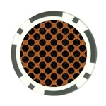 CIRCLES2 BLACK MARBLE & RUSTED METAL Poker Chip Card Guard Front