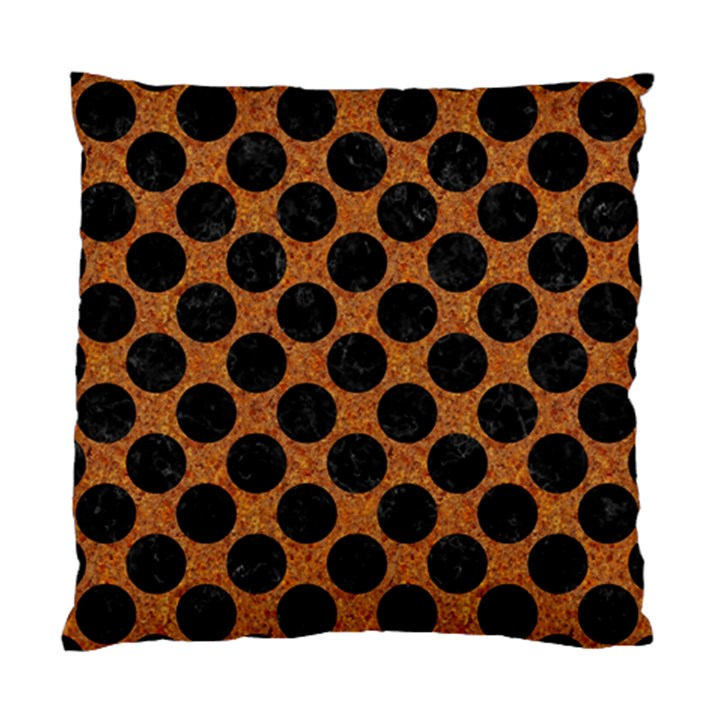 CIRCLES2 BLACK MARBLE & RUSTED METAL Standard Cushion Case (One Side)