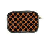 CIRCLES2 BLACK MARBLE & RUSTED METAL Coin Purse Back